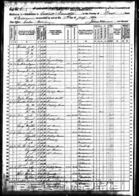 1870 Alfred Spencer, 1870 Census, Current township, Texas co.jpg