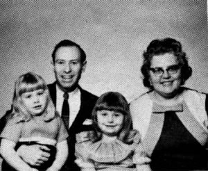 Roger, Leona, Christy and Kathy Thompson circa 1969