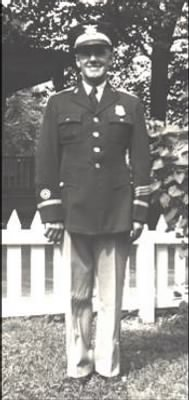 Clayton Batchelor in Seagram's Police Uniform