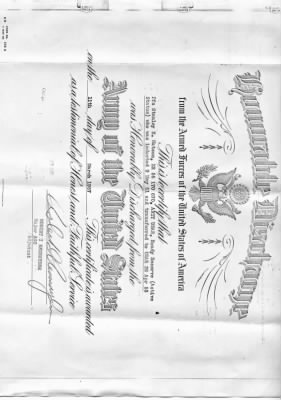 US Army Honorable Discharge - Stanley Eugene Watson