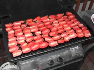 Tomatoes on the barbeque
