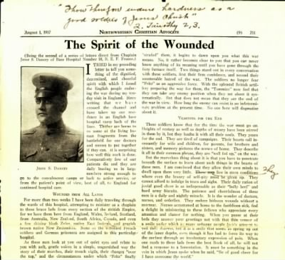 Letter from Chaplain Jesse Dancey WWI - Fold3.com