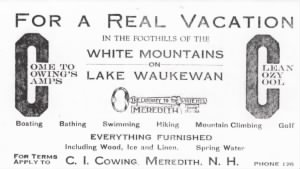 Cowing Camps in Meredith, New Hampshire