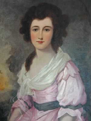 Rachel Powell Lampson portrait by Gilbert Stuart