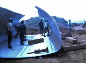 Construction of Culvert Bunkers at Base 4, DMZ, Vietnam