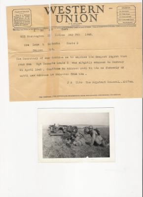 pic of dad, Louis Rowland Roberts with Ballao 14 June 1943 Camp Phillips Ks.jpg