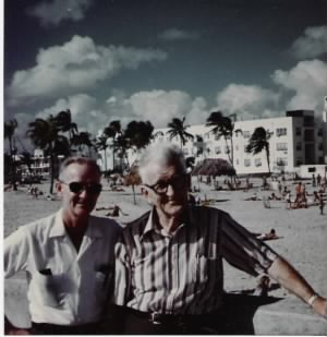 Bill Fletcher with his Dad, Clifford Fletcher