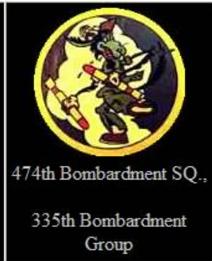 335th BG, 474thBS,Combat Training in the States in B 26 Marauders