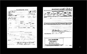 Jessie James' WWI Draft Card