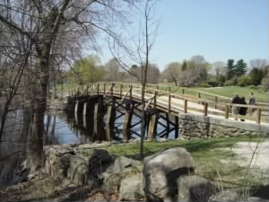The North Bridge in Concord Massachusetts.