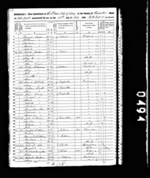 1850 Census John L Ells