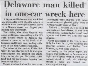 Delaware Man Killed