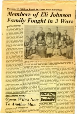 Members of Eli Johnson Family Fought in 3 Wars (Page 1)