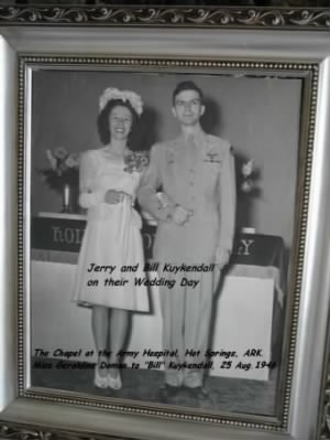 "Lt James Wm. ""Bill"" Kuykendall, (Pilot) and his BRIDE Jerry Kuykendall"