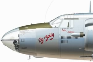"397thBG, The ""By Golly"" B-26 Marauder -Painting by Mark Stylings Art"