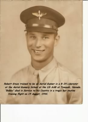 "Cpl Robt. ""Bobby"" Gruss, Aerial Gunner on the B-24 Liberator"