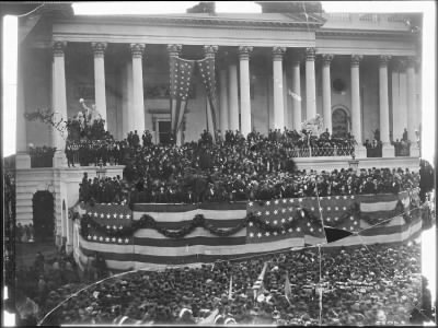 Mathew B Brady Collection of Civil War Photographs › B-4823 Inaugration of President Grant. - Fold3.com