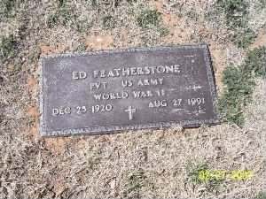 Ed Featherstone's Grave in Midland, Texas