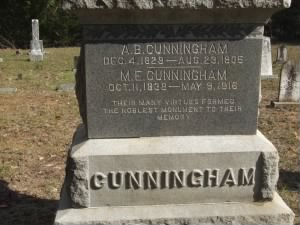 Cunningham Burial Location