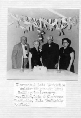Clarence, Lela, 50th Anniversary