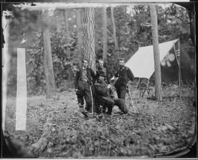 Mathew B Brady Collection of Civil War Photographs › B-21 General Winfield S. Hancock and Generals Francis C. Barlow, David B. Birney, John Gibbon. - Fold3.com