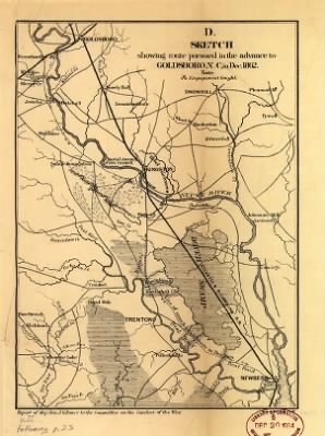 Sketch showing route pursued in the advance to Goldsboro, N.C., in Dec. 1862 Bowen & Co., lith., Phila. › Page 1 - Fold3.com