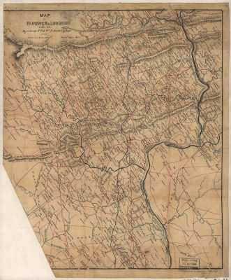 Map of Fauquier & Loudon [sic] co's. Va. / by order of Lt. Col. Wm. P. Smith Chf. Eng'r. Topogl. Office A.N.V. ; copied by A. S. Barrows Ass't Eng'r. › Page 1 - Fold3.com