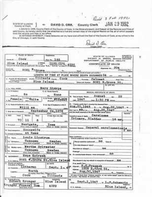 Mary Sharpe (Linstrum)- Death Certif. - Fold3.com
