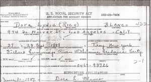 Dora Lydia Rice -Social Security Act.