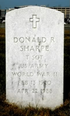 Donald Roger Sharpe -Headstone
