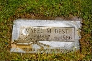 Mabel Mahala Best (Bennett) - Headstone
