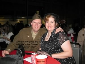 B-25 Pilot's other Nephew L) Lynn Ritger and his wife, Debi Ritger