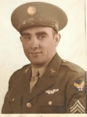 Army Aircorps Portrait after he made Sgt.