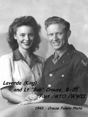 Bob and Laverda Crouse, 1943
