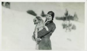 Evelyn Nightingale and Queen (Henry Merema's dog).jpg