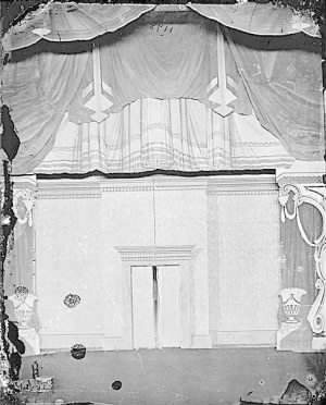 The stage at Ford's Theatre