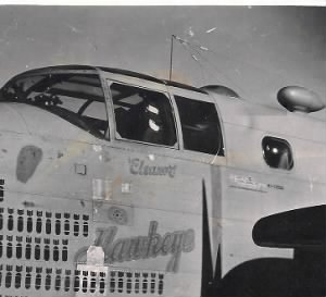321st BG, 447th BS, Lt Leland A Moore, Pilot of the HAWKEYE #41-12926