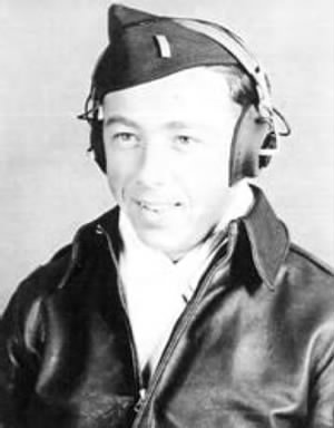 "Lt Clarence R ""CHRIS"" Christman, B-17 Pilot KIA Photo courtesy of Pan Keener"