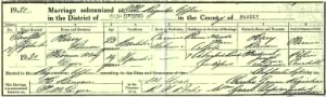 Marriage Certificate of Harry Ranson & Florence May Dyer