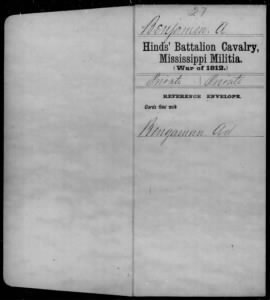 War of 1812 Service Records - Mississippi