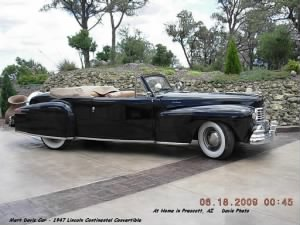 Mert's 1947 Lincoln Continental Convertible.