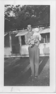 William Edward King with son William Randolph King July 1945