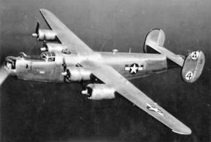 A B-24 from the 450th Bomb Group during WWII