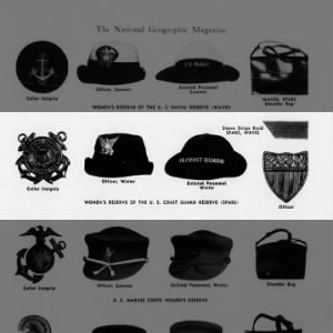 Fold3 Image - Insignia and hats of the SPARS (women's auxiliary of the Coast Guard)