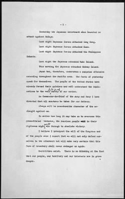 Franklin Roosevelt 'Day of Infamy Speech' - pg 2 - Fold3.com