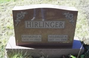Headstone for Raymond & Mildred Hirlinger