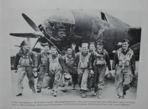 S/Sgt Fred J Spillman and Crew from the Heavenly Body KX-A B-26 Bomber