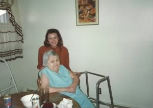 Grandma Carroll and I in New Britain, Ct