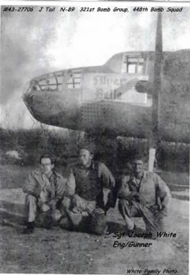 Joseph White and his Crew Members with their B-25 on Corsica