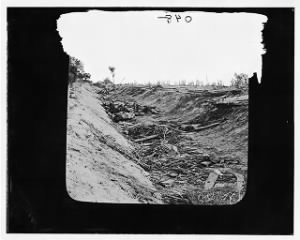 Fold3 Image - Antietam, Maryland. Confederate dead in a ditch on the right wing